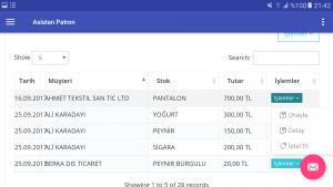 mobil erp , patron ekranı, mobil rapor yazılımı